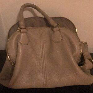 J Crew Leather Tan Handbag
